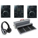 Pack 2 CDJ 350 + DJM 350 + flight + casque