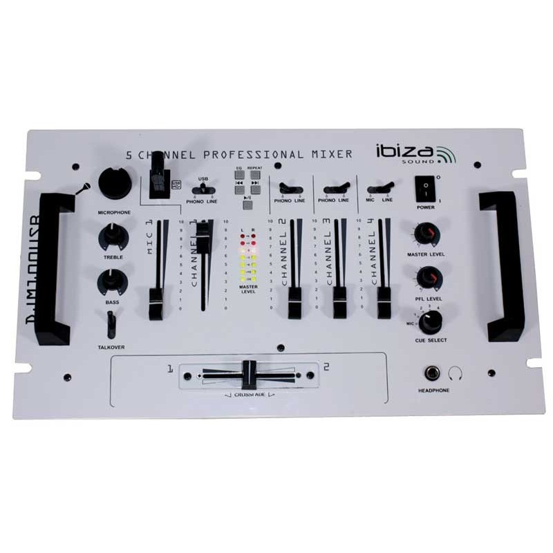 ibiza sound djm 100 usb blanche table de mixage dj musicmove store. Black Bedroom Furniture Sets. Home Design Ideas