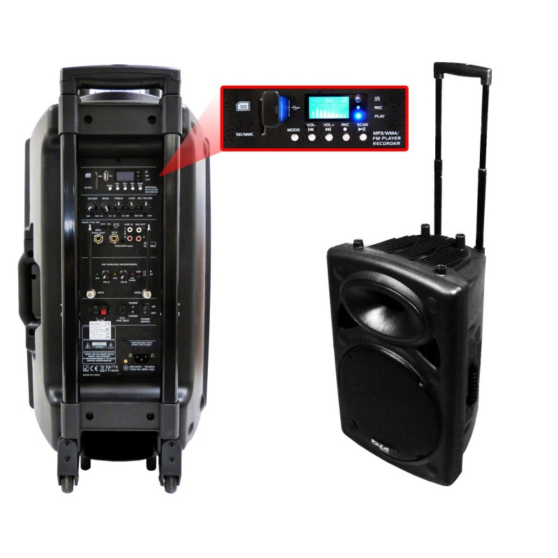 sono portable port 15 vhf bt par ibiza sound musicmove store. Black Bedroom Furniture Sets. Home Design Ideas